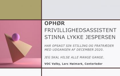 Stinna Lykke Jespersen stopper