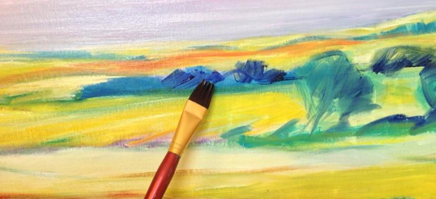 Maling akryl/akvarel gruppe