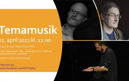 Tema musik Torsdag den 22. april med Niels Ryde Transition Trio