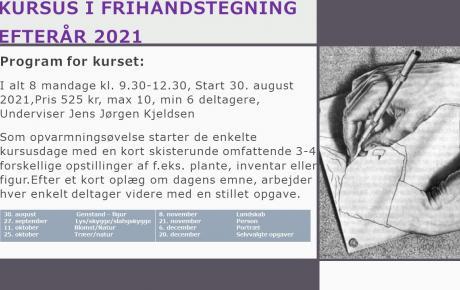 Frihåndstegning kursus/workshop gruppe