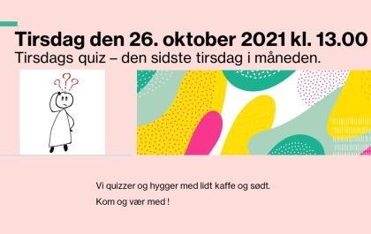 Tirsdagsquiz 26. oktober 2021