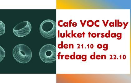 Cafe lukket i torsdag og fredag i efterårsferien
