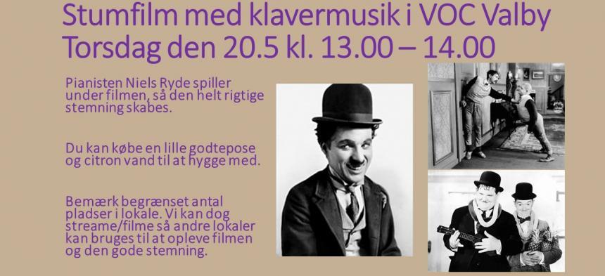Stumfilm i VOC Valby den 20. maj 2021