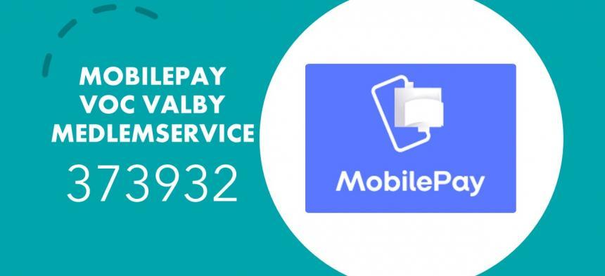 Mobilepay i VOC Valby - Cafe og Medlemsservice