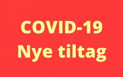 Nye tiltag ifht. COVID-19