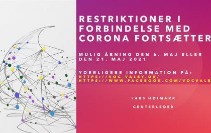 Mulig åbning af VOC Valby den 6. eller 21. maj 2021